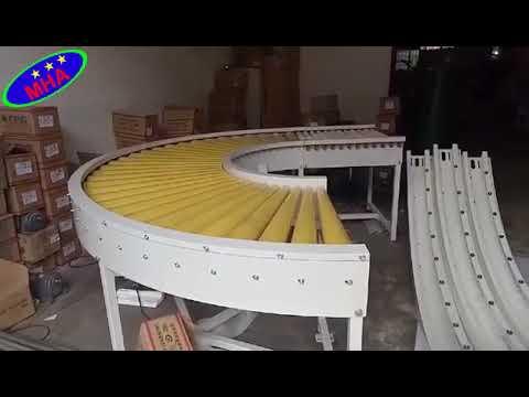 Băng tải con lăn góc cong 90 độ - Băng tải công nghiệp MHA