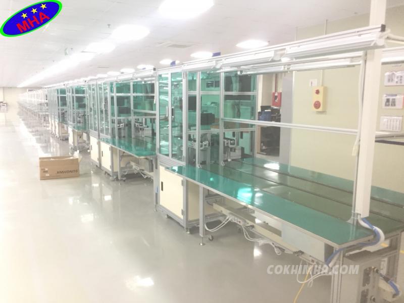 sản xuất băng tải 2 làn